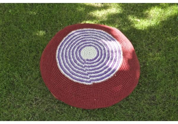 Crocheted Hemp Floor Cushion