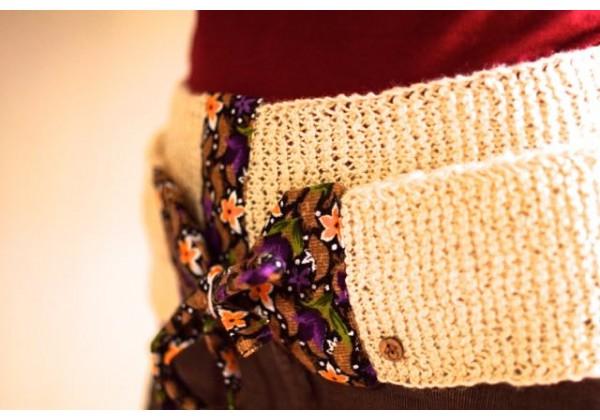 Woolen Belts - Cream White