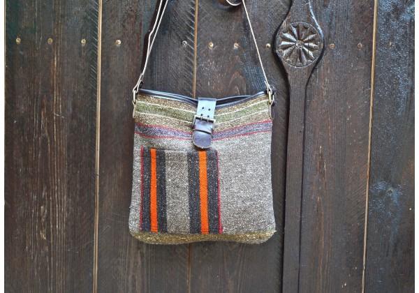 Kilim Leather Cross Body Bag