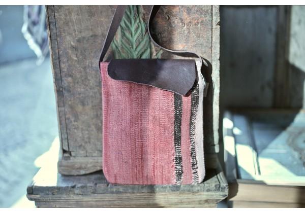 Leather Kilim Cross Body Bag