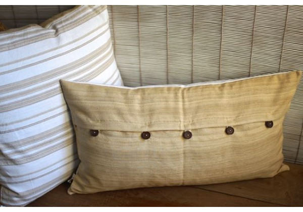 Handwoven Linen-Silk Cushion