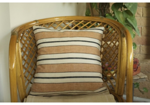 Striped Handwoven Linen Cushion